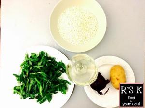 Ingredienti: verzole, riso, patata, cipolla, prosecco